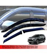 Black Door Window Visor Guard For Mitsubishi Pajero Montero Sport 2019 2020 - $93.19