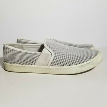Vince Womens Blair 5 Shoes Size 8 M White Perforated Slip On Skate Sneakers - $19.34