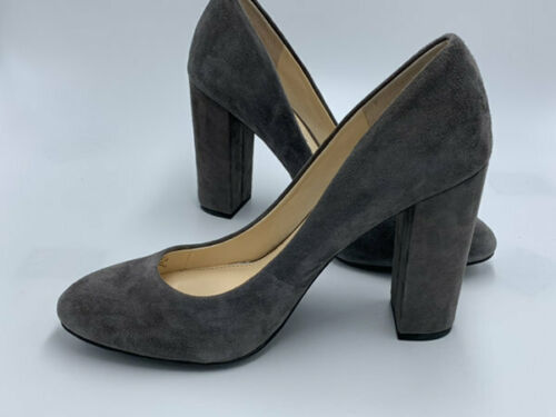 "Jessica Simpson 8.5 Belemo Gray Suede Pumps 4"" High Heels Shoes"
