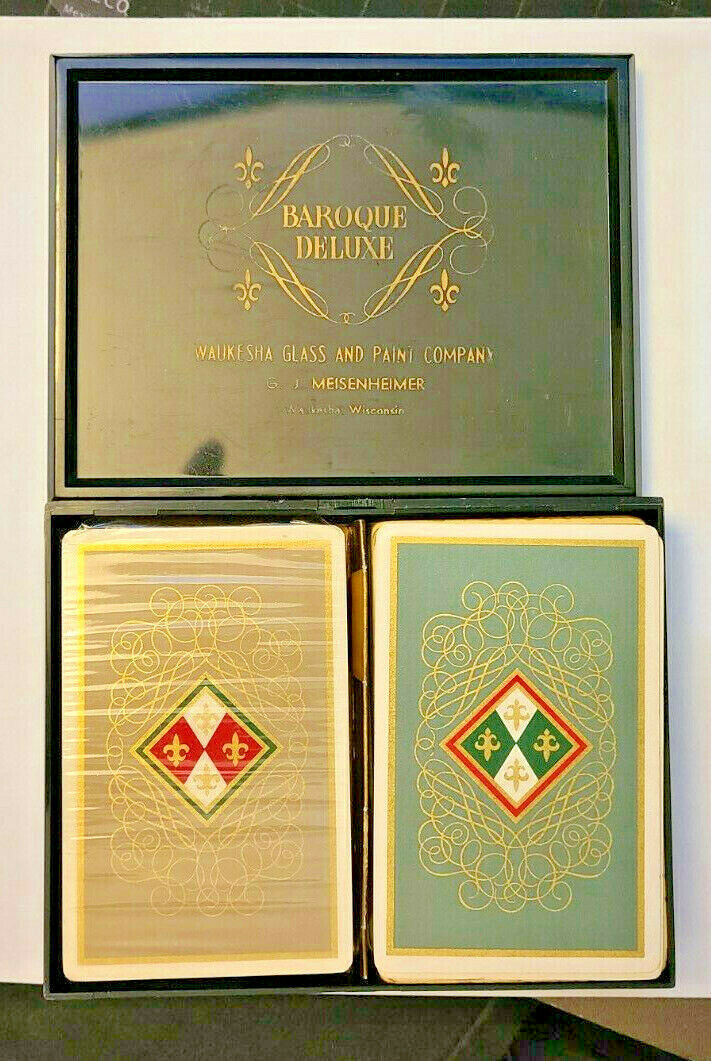 Waukesha Glass and Paint Baroque Deluxe Double Deck Playing Cards