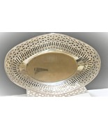 Silver decorative serving bowl. Perfect for buns, biskets or bread. Plat... - $15.00