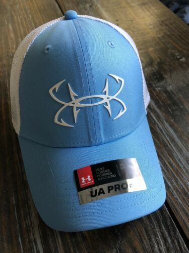 Under Armour Fish Hunter Trucker Hat in Carolina Blue Stretch Fit OSFA M/L image 5