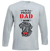 Neapolitan Mastiff - Im A Proud Dad - New Cotton Grey Tshirt - $27.17