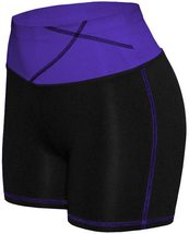 Women's W Sport Two Tone Athletic Work Out Fitness Stretch Gym Shorts AP-4815 image 3