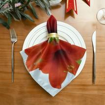 Coffee Napkins Cloth Amaryllis Flowers Red Table Napkins Cloth 20 X 20 Inch - $29.99