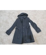 BNWT Liz Claiborne wool blend women's long coat w/ hood & belt, Size S, ... - $84.15