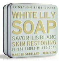 Scottish Fine Soaps Restoring White Lily Soap in a Tin 100g 3.5oz - $12.00