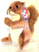 TY BEANIE BABIES ORIGINAL 1996 – Nuts the Squirrel SN 4114 – 6 inches - $98.95