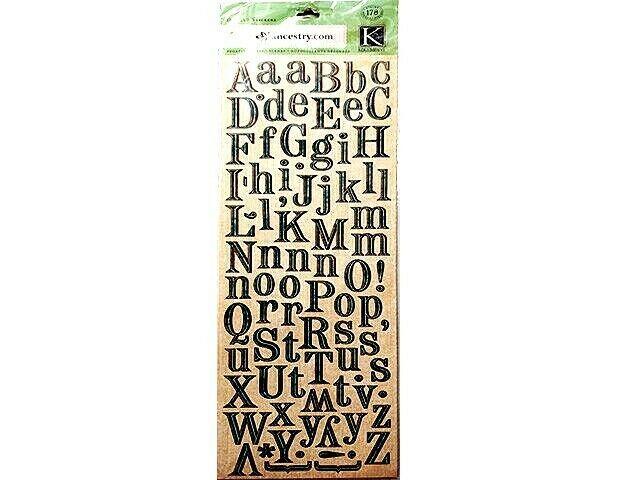 K&Company ancestry.com Die-Cut Alphabet Stickers #570115