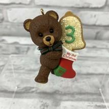Hallmark Keepsake Christmas Ornament My 3rd Christmas Bear Stocking 1997... - $6.89