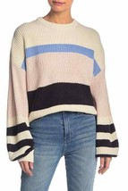 Sanctuary Playful Stripe Sweater WOMENS SIZE Large, Balloon Sleeve - $29.65