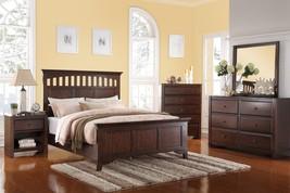 Poundex F9148EK Espresso 4PCS Wooden King Bed Set