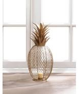 GOLDEN PINEAPPLE TEALIGHT CANDLE HOLDER Home Decor - $32.99
