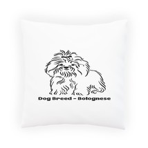 Dog Breed Bolognese Pillow Cushion Cover s796p - $12.02+