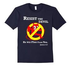 Resist the Devil Bible Verse Funny Christian T Shirt JVD Men - $17.95+