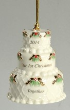 Lenox 2014 Wedding Cake Our 1st Christmas Together Ceramic Ornament NIB ... - $18.99