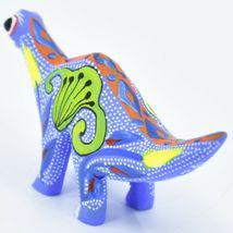 Handmade Alebrijes Oaxacan Wood Carved Folk Art Brontosaurus Dinosaur Figurine image 3