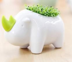 Ceramics Fleshy Flower Pot Cartoon Animal Design Bonsai Office Decoratio... - $17.80