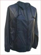 new BCBGMAXAZRIA women rain jacket hooded full zip BMAX0011 black grey XL - $41.96