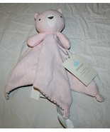 New Cloud Island Pink Bear Lovey Security Blanket Knit 14 Inch Baby Girl... - $9.89