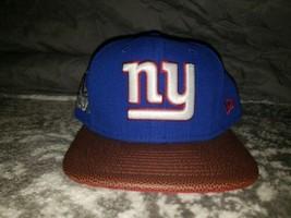 New Era New York Giant's Super Bowl 46 Snapback Hat Cap Football Visor Limited - £19.87 GBP