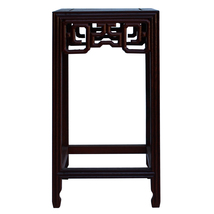 "Chinese Brown Wood Square Tall Table Top Stand Display Easel 4.75"" ws128 - $115.00"