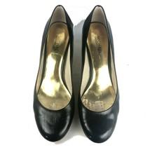 Michael Kors Black Round Toe Patent Leather Pumps Shoes Sz 11 - $19.34