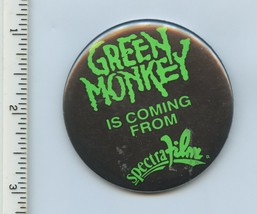 Green Monkey Is Coming From Spectra Film Button Pin 1998 Horror Film Promo - $7.18