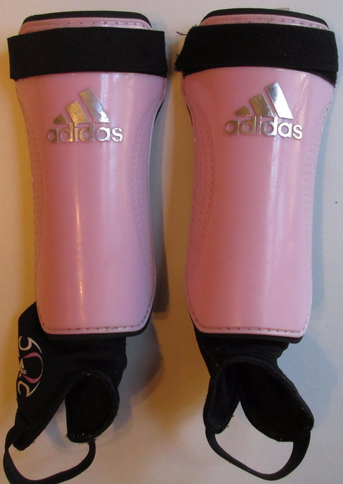 dce9d49c96d2 Adidas Performance Youth Soccer Shin Guards Girls Pink & White Size M -  $12.99