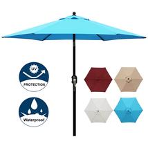 Blissun 7.5 ft Patio Umbrella, Yard Umbrella Push Button Tilt Crank Ligh... - $40.63