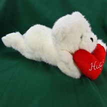 Boyds Bear White Musical Animated Glitter Plush Kicks Feet Light Up Hear... - $19.24