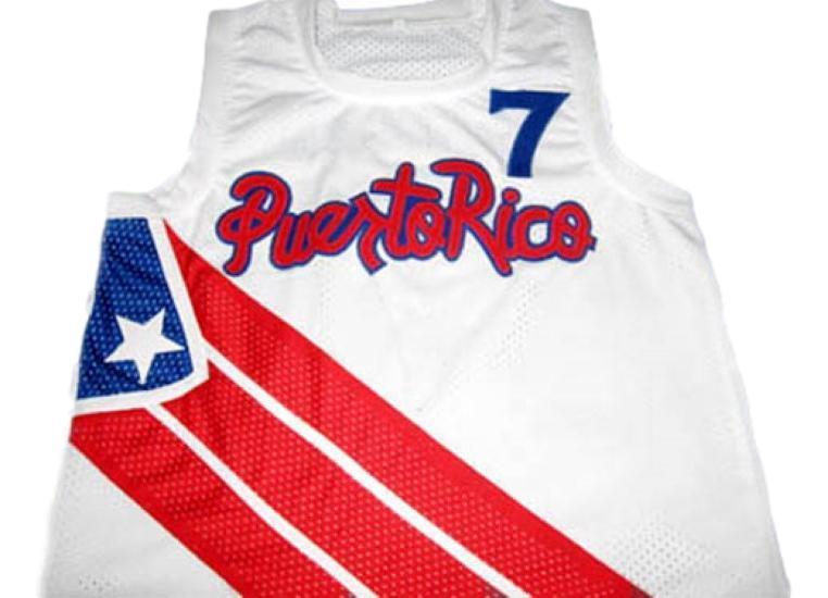 Carlos arroyo  7 puerto rico basketball jersey white 1