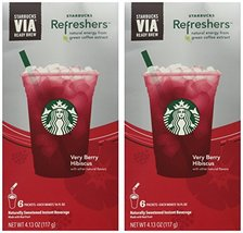 Starbucks Via Instant Refreshers - Very Berry Hibiscus - 6 Packets (Pack... - $20.83