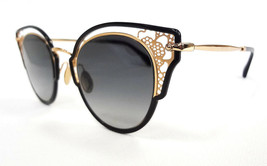 JIMMY CHOO Women's Sunglasses DHELIA/S 2M2 Black/Gold 145 MADE IN ITALY ... - $199.95