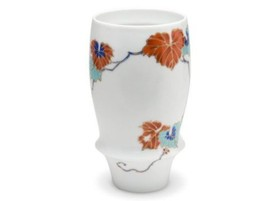 Japanese Sake beer glass cup Arita porcelain ivy Sometsuke 350cc - $54.82