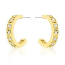 Roma Goldtone Finish Hoop Earrings - $23.00