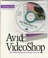 Avid VideoShop 3.0 CD-ROM with manual for MAC ~ 1995 - $29.56
