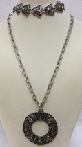 Necklace & Bracelet Set Talisman of Love Mask & Crab Cancer Sarah Coventry Pair - $19.79