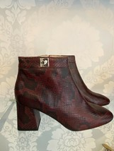 """KATE SPADE Python Look Leather """"ADALYN"""" Ankle Boots w/Chunky Heels Sz 10 $348 - $168.20"""