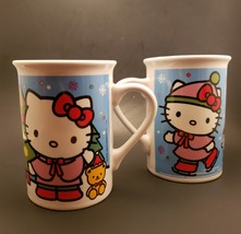 Set of 2 Hello Kitty Sanrio 2016 Mugs Cups Frankford Candy LLC  - $16.00