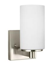 Sea Gull Lighting Hettinger 1 Lt Wall/Bath Sconce, Brushed Nickel - 4139... - $25.00