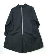 IC By Connie K L Tunic Blouse Zipper Back Black White  Pinstripes A Line... - $86.25