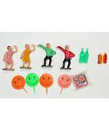 Vintage Go-Go Dancer Teenagers Sock Hop Cake Topper Lot Plastic Miniatur... - $12.00