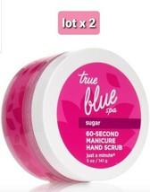 Bath & Body Works True Blue Spa Sugar 60 Second Manicure Hand Scrub 5 Oz lot x 2 - $54.45