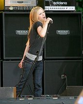 Avril Lavigne 16x20 Canvas Giclee on Stage Holding Mike Singing - $69.99