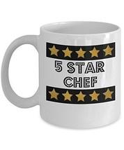 5 Star Chef - Novelty 11oz White Ceramic Cook Mug - Perfect Anniversary,... - $14.84