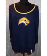 Buffalo Sabres NHL Top Shirt 2XL Womens Beaded Sequins Hockey Tunic - $28.96