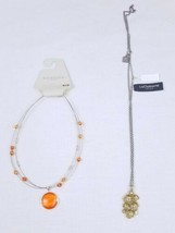 Liz Claiborne Floral Necklace And Sonoma Multi Strand Wire Necklace Sold as Set - $14.54