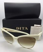 Dita Sonnenbrille Versuchung 22029 C CRM GLD 61 Creme & Gold mit / Braun