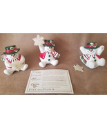 Fitz & Floyd 3 Christmas Holiday Snowman Tumbling Snowmen with Top Hats ... - $22.76